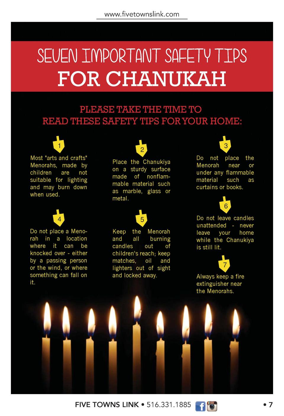 www.   vetownslink.com  FOR CHANUKAH PLEASE TAKE THE TIME TO READ THESE SAFETY TIPS FOR YOUR HOME  1  2  Most  arts and cr...