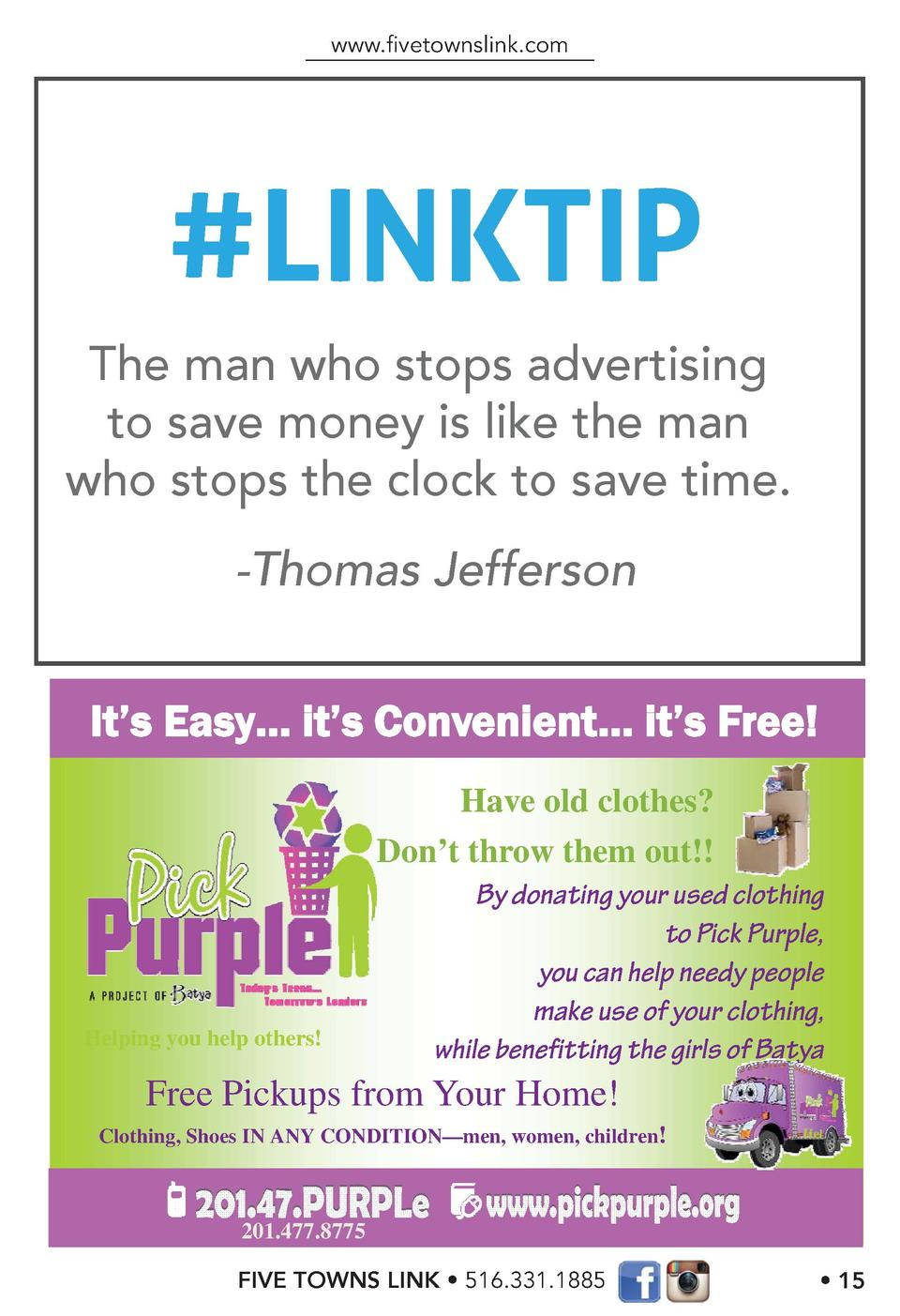 www.   vetownslink.com   LINKTIP The man who stops advertising to save money is like the man who stops the clock to save t...