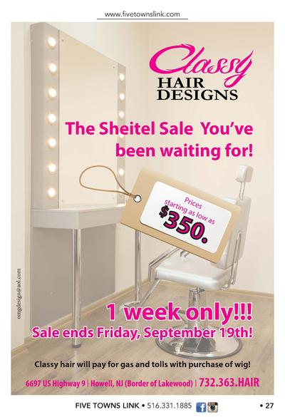 www.   vetownslink.com  HAIR DESIGNS  The Sheitel Sale You   ve been waiting for  star     Pr ting ices as l ow a  350  om...