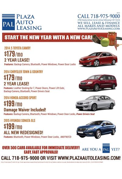 Plaza PAL Auto Leasing  BS   D  CALL 718-975-9000 2750 Nostrand Ave Corner of Ave N Brooklyn NY 11210  WE SELL, LEASE   FI...