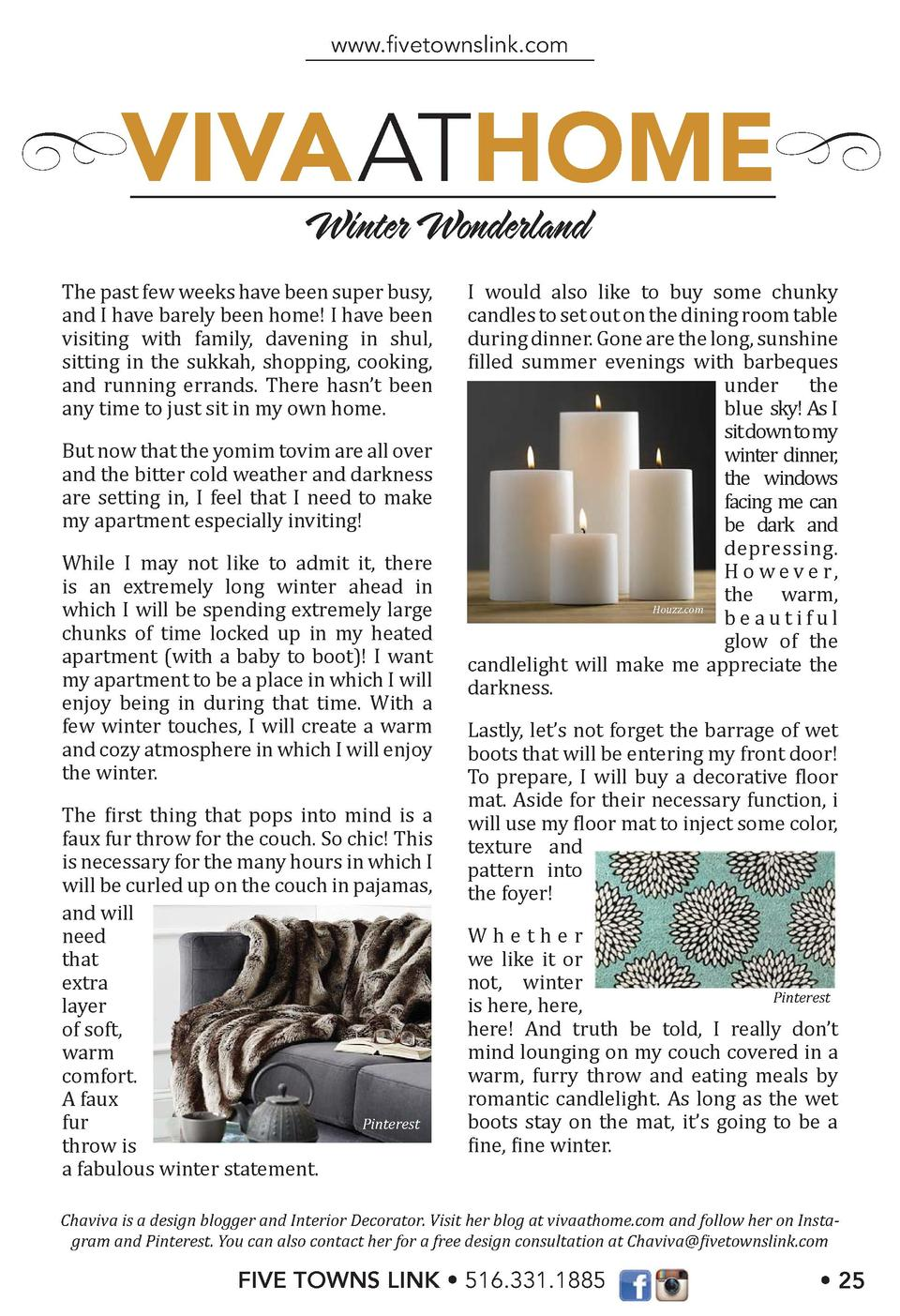 www.   vetownslink.com  VIVA ATHOME Winter Wonderland  The past few weeks have been super busy, and I have barely been hom...