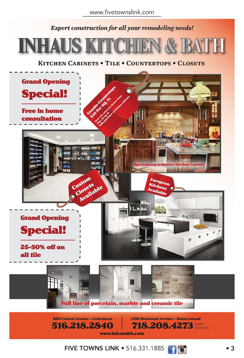 www.   vetownslink.com Expert construction for all your remodeling needs   Kitchen Cabinets Tile Countertops  G  3 ran  5 ...