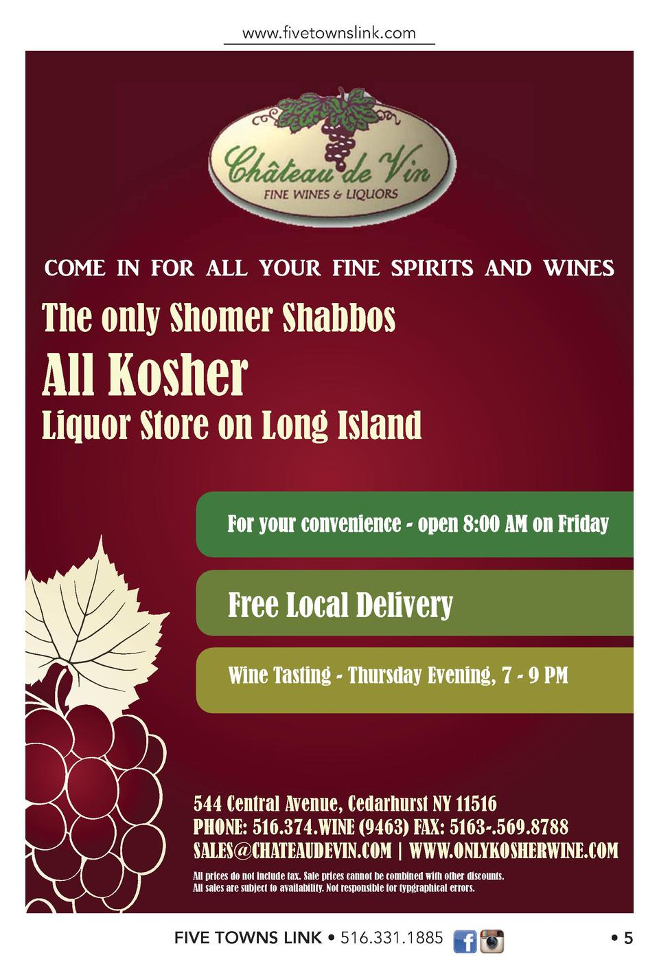 www.   vetownslink.com  COME IN FOR ALL YOUR FINE SPIRITS AND WINES  The only Shomer Shabbos  All Kosher  Liquor Store on ...