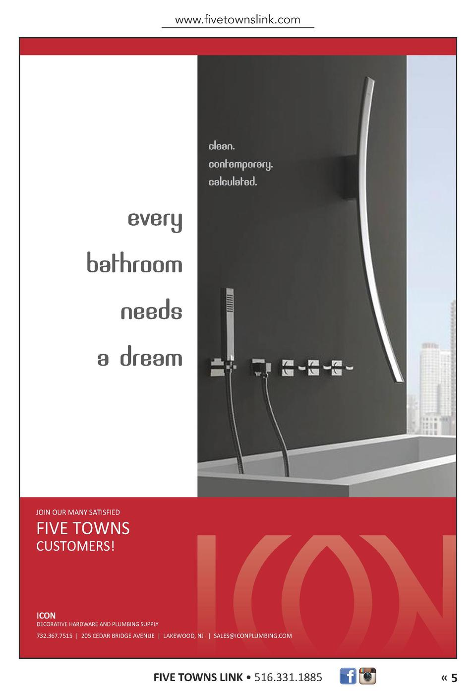 ICON ad NOV14_Layout 1 10 28 2014 2 59 PM Page 1  www.fivetownslink.com  JOIN OUR MANY SATISFIED  FIVE TOWNS CUSTOMERS   I...