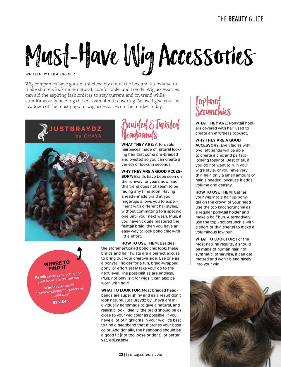 THE BEAUTY GUIDE  THE BEAUTY GUIDE  Must-Have Wig Accessories  Bags  WRITTEN BY HEILA KIRZNER  Wig companies have gotten u...