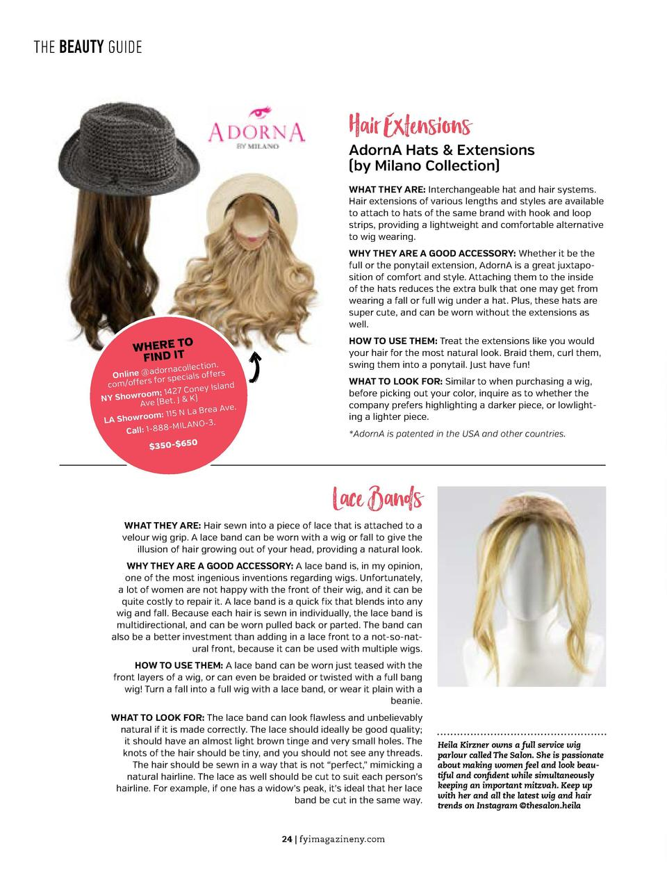 LOVE YOUR LIFE  THE BEAUTY GUIDE  Health        Fitness         How They Did It  Hair Extensions  AdornA Hats   Extensions...