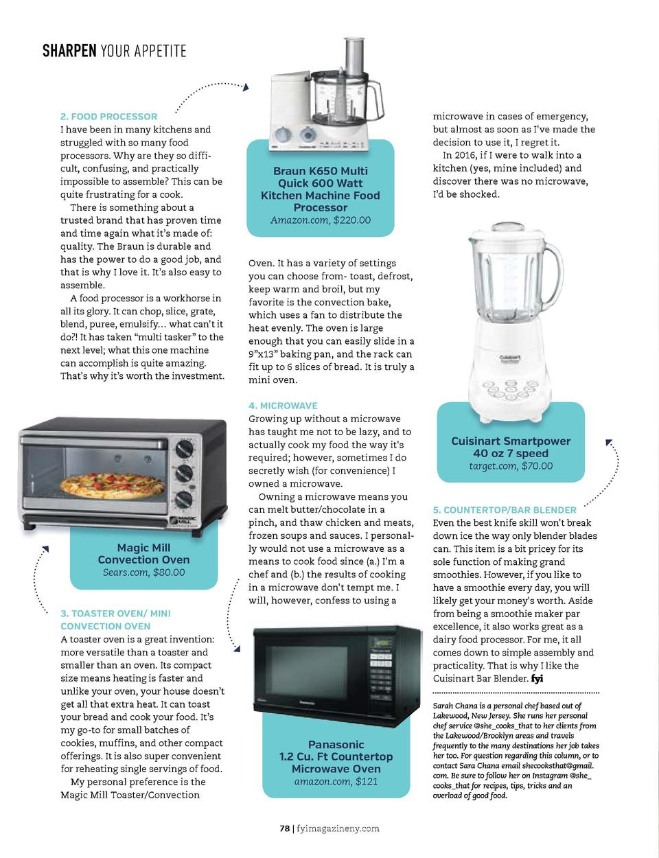 YOU GOTTA KNOW  SHARPEN YOUR APPETITE  For Less   Book Review   Magic Helpers  2. FOOD PROCESSOR I have been in many kitch...