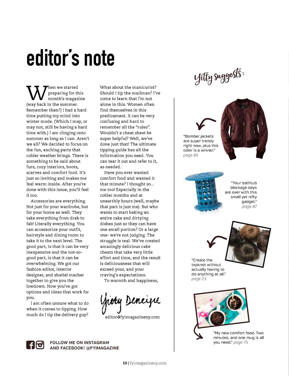 THE BEAUTY GUIDE Fashion          Decor         DIY  editor   s note W  hen we started preparing for this month   s magazi...
