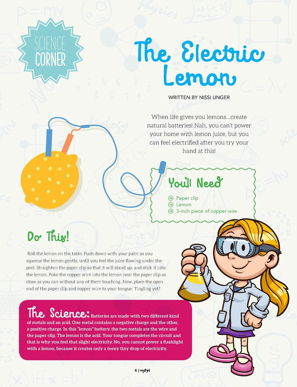 Science COrner  The Electric Lemon  Find It   Find the hidden objects in this Photos   It s Fun Stuff  WRITTEN BY NISSI UN...