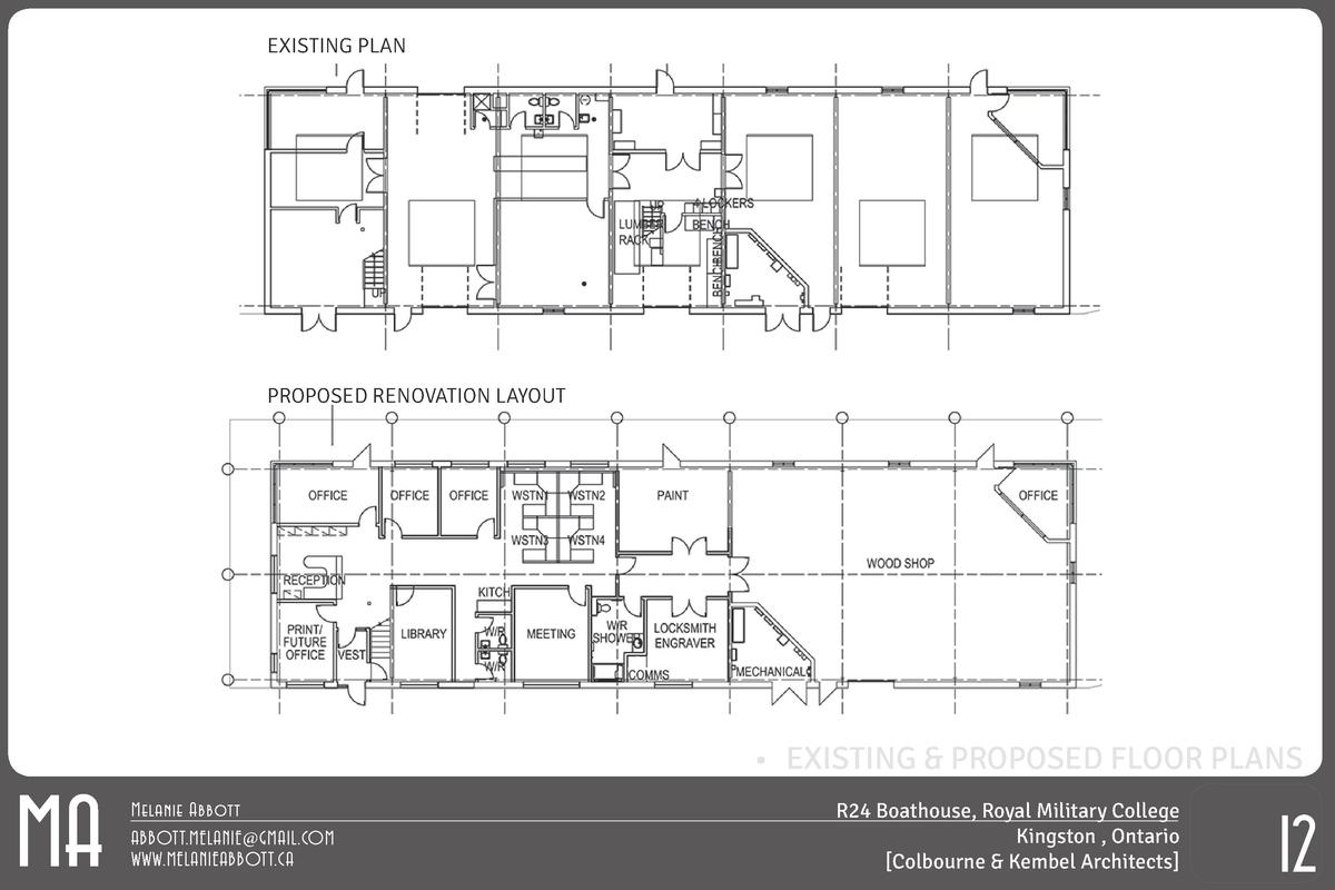 EXISTING PLAN  PROPOSED RENOVATION LAYOUT  MA       EXISTING   PROPOSED FLOOR PLANS Melanie Abbott ABBOTT.MELANIE GMAIL.CO...