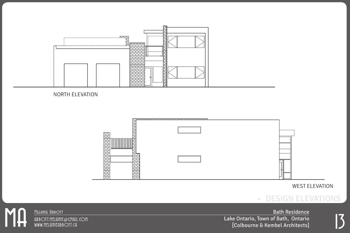 NORTH ELEVATION  WEST ELEVATION  MA       DESIGN ELEVATIONS Melanie Abbott ABBOTT.MELANIE GMAIL.COM WWW.MELANIEABBOTT.CA  ...