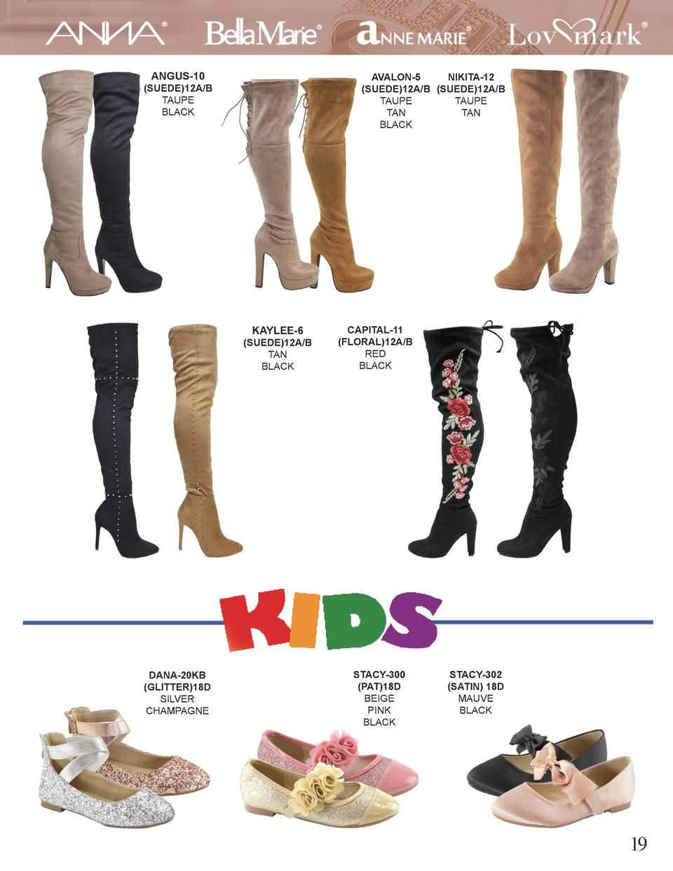 ANGUS-10  AVALON-5 NIKITA-12  SUEDE 12A B  SUEDE 12A B TAUPE TAUPE TAN TAN BLACK   SUEDE 12A B TAUPE BLACK  KAYLEE-6   SUE...