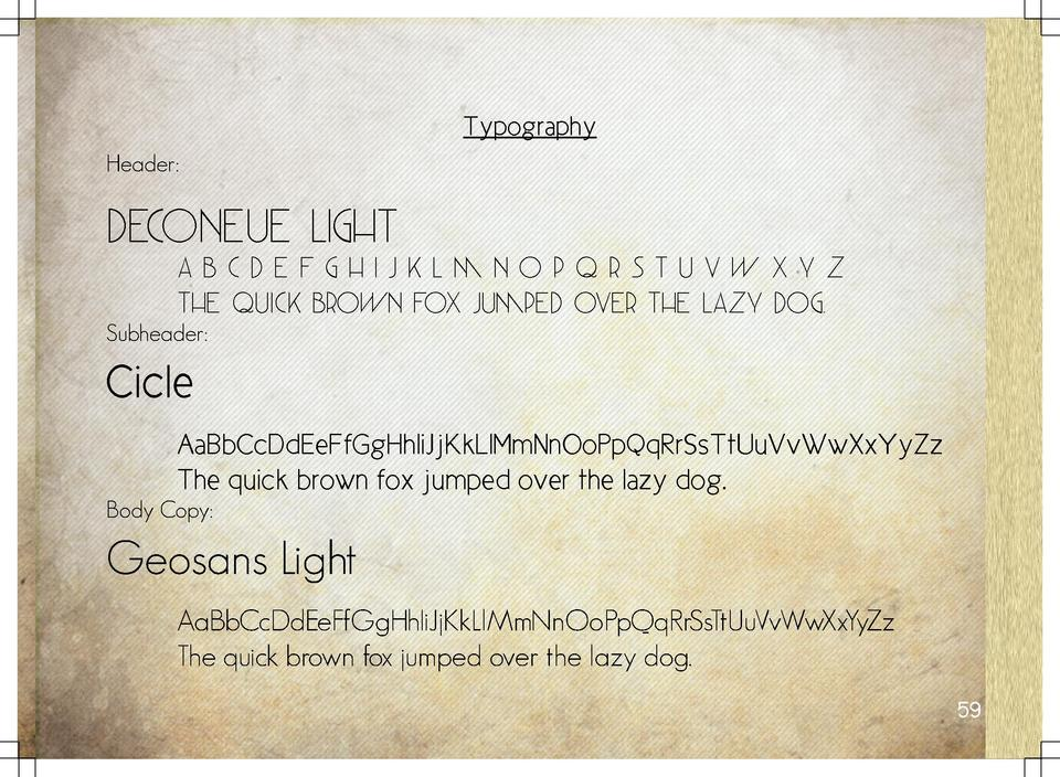 Typography Header   DecoNeue Light       Abcdefghijklmnopqrstuvwxyz The quick brown fox jumped over the lazy dog.  Subhead...