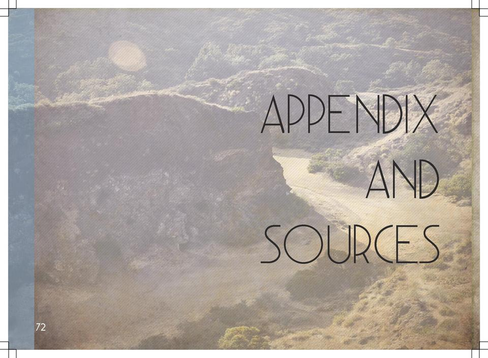 Appendix and Sources 72