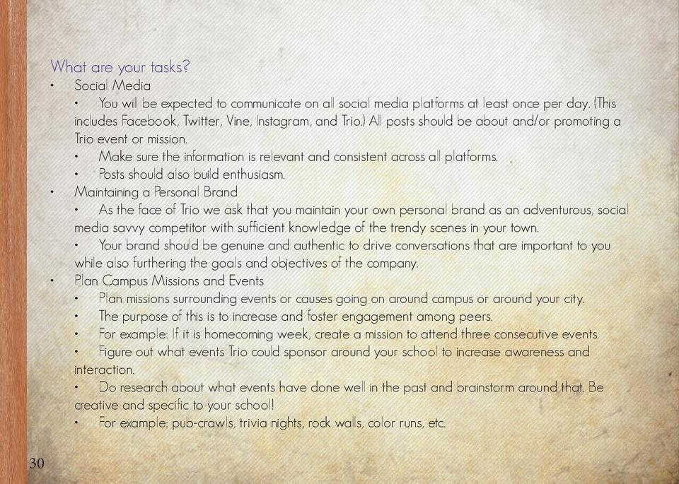 What are your tasks                                        30  Social Media      You will be expected to communicate on al...