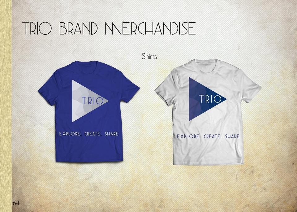 Trio Brand Merchandise  Headbands  Shirts  Sticker  64  Towel  65