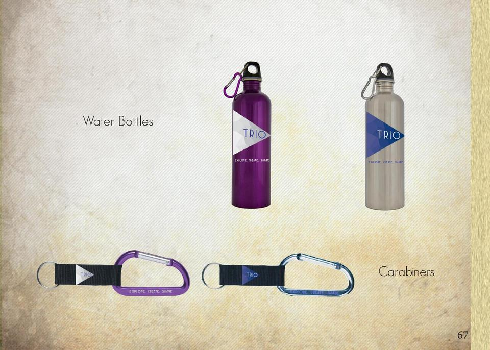 Pseudo Granola Directed Adventure Merch Packs Water Bottles  Carabiners  66  67