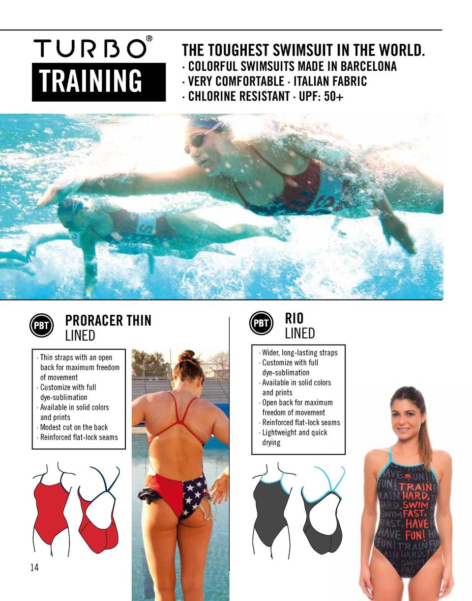 THE TOUGHEST SWIMSUIT IN THE WORLD.  TRAINING  PRORACER THIN LINED    Thin straps with an open back for maximum freedom of...