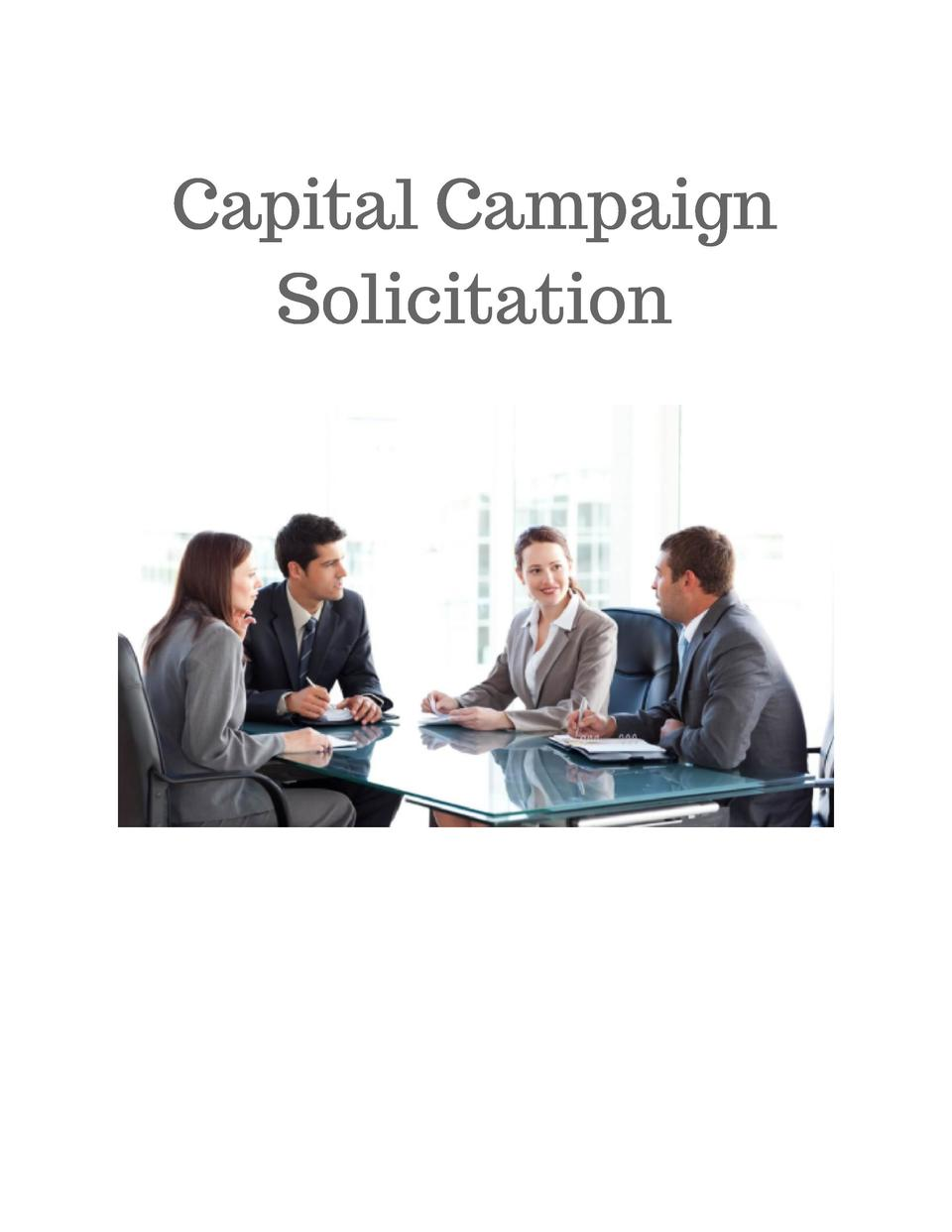 Capital Campaign Solicitation
