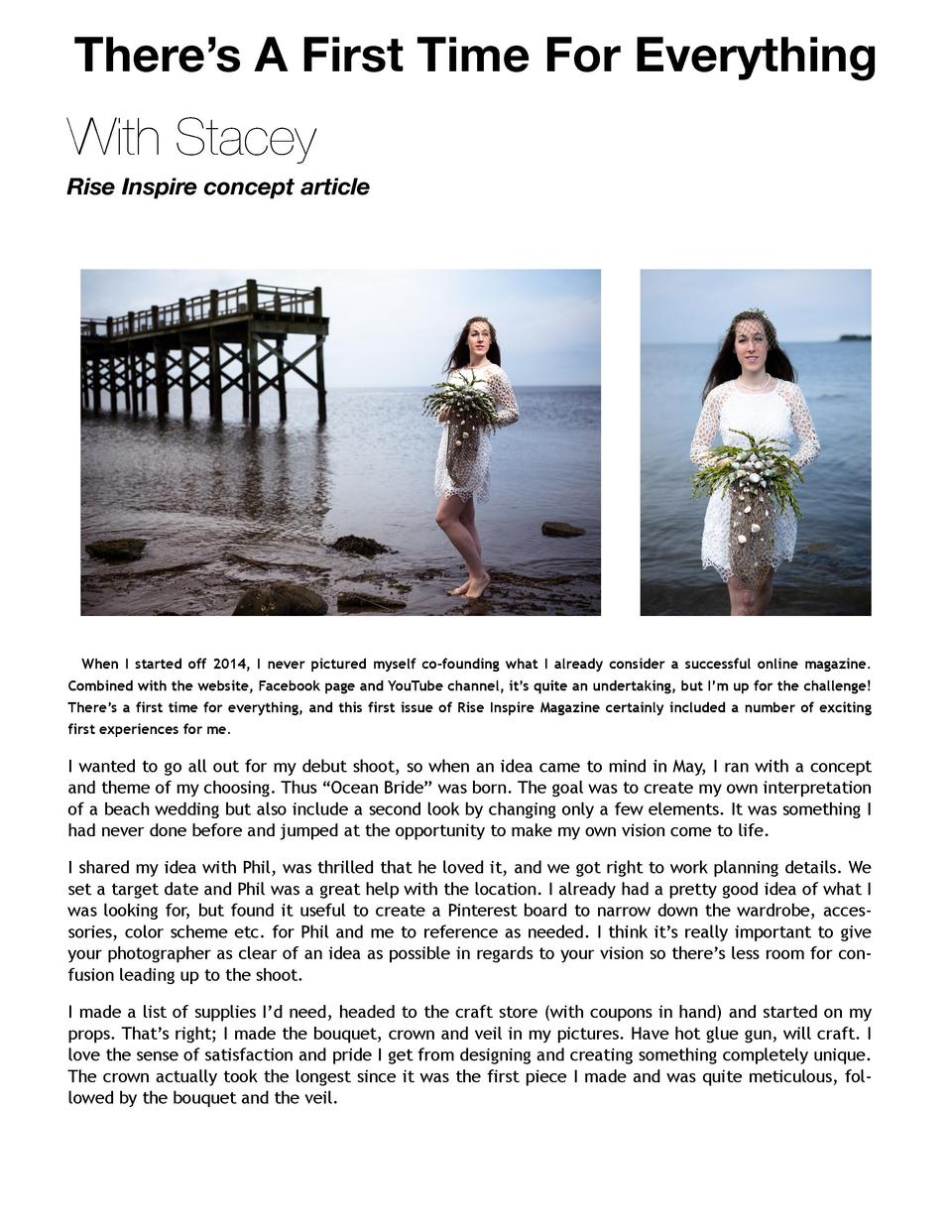 There   s A First Time For Everything  with Stacey Rise Inspire concept article  When I started off 2014, I never pictured...