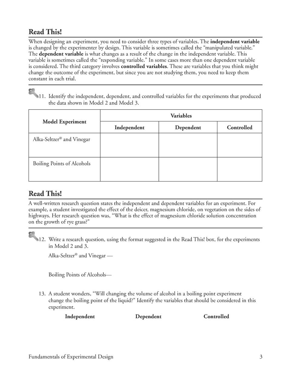 Printables Experimental Design Worksheet experimental variables worksheet science with answers worksheets identifying controls and design worksheet