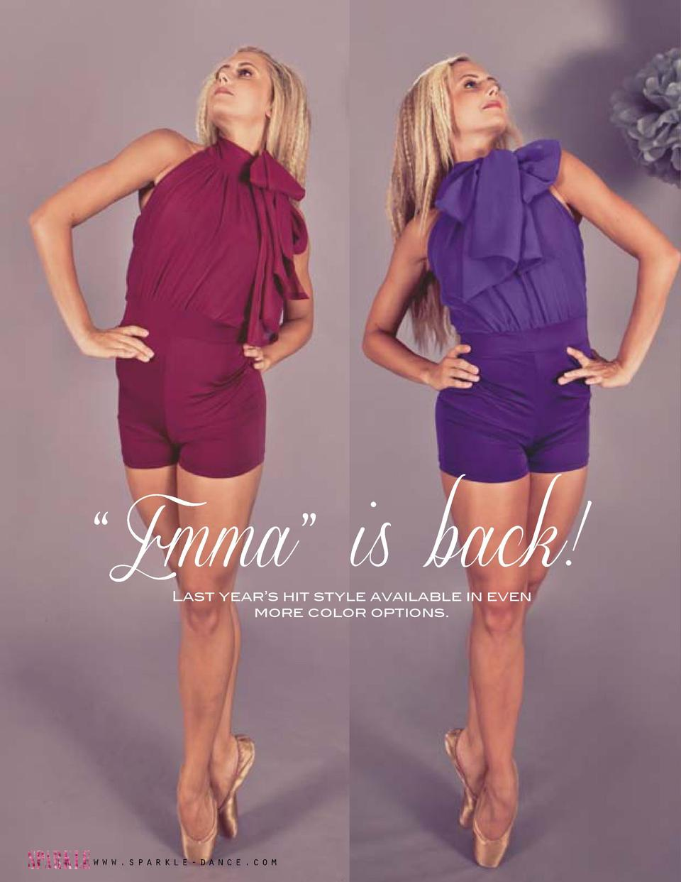 Emma    is back  Last year   s hit style available in even more color options.     Emma    Biketard Halter-style neck w...