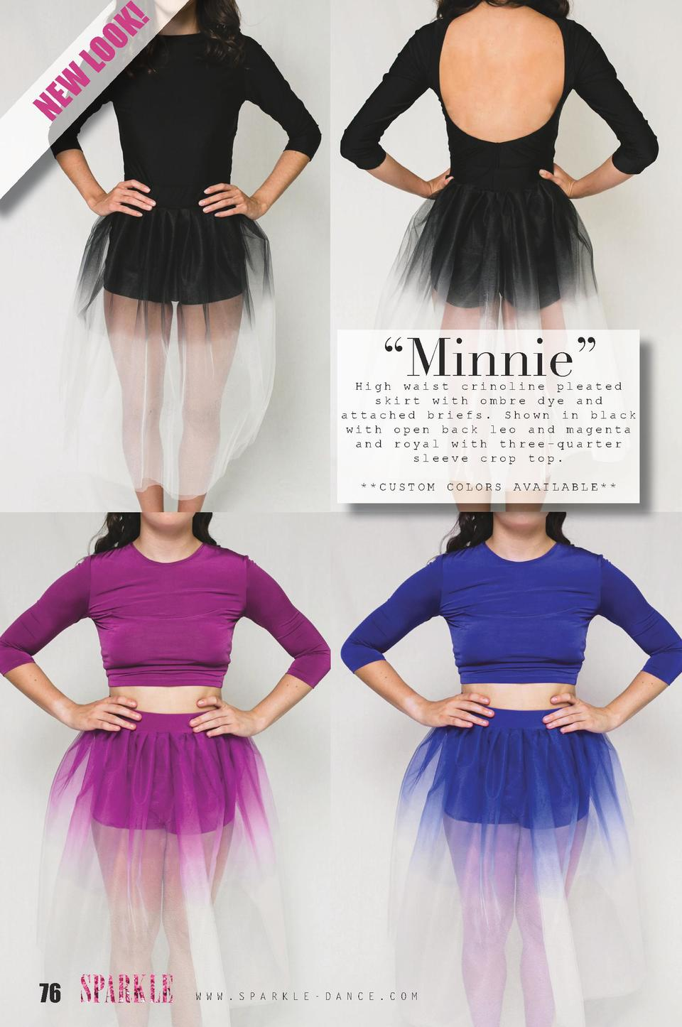 K  LO O W NE     Minnie     High waist crinoline pleated skirt with ombre dye and attached briefs. Shown in black with ope...