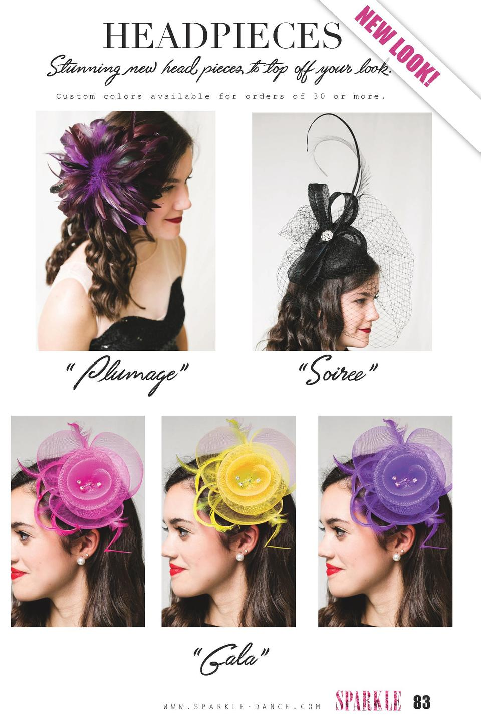 HEADPIECES  NE  W  LO O  Stunning new head pieces to top off your look. K  Custom colors  available  for  orders     Pluma...