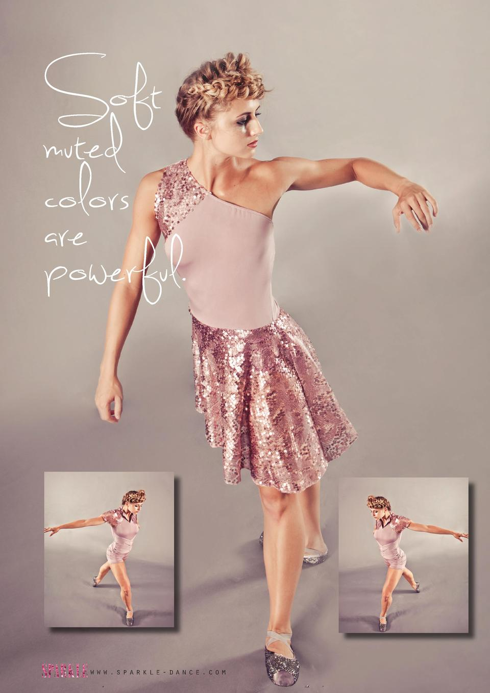 Soft muted colors are powerful.  www.sparkle-dance.com