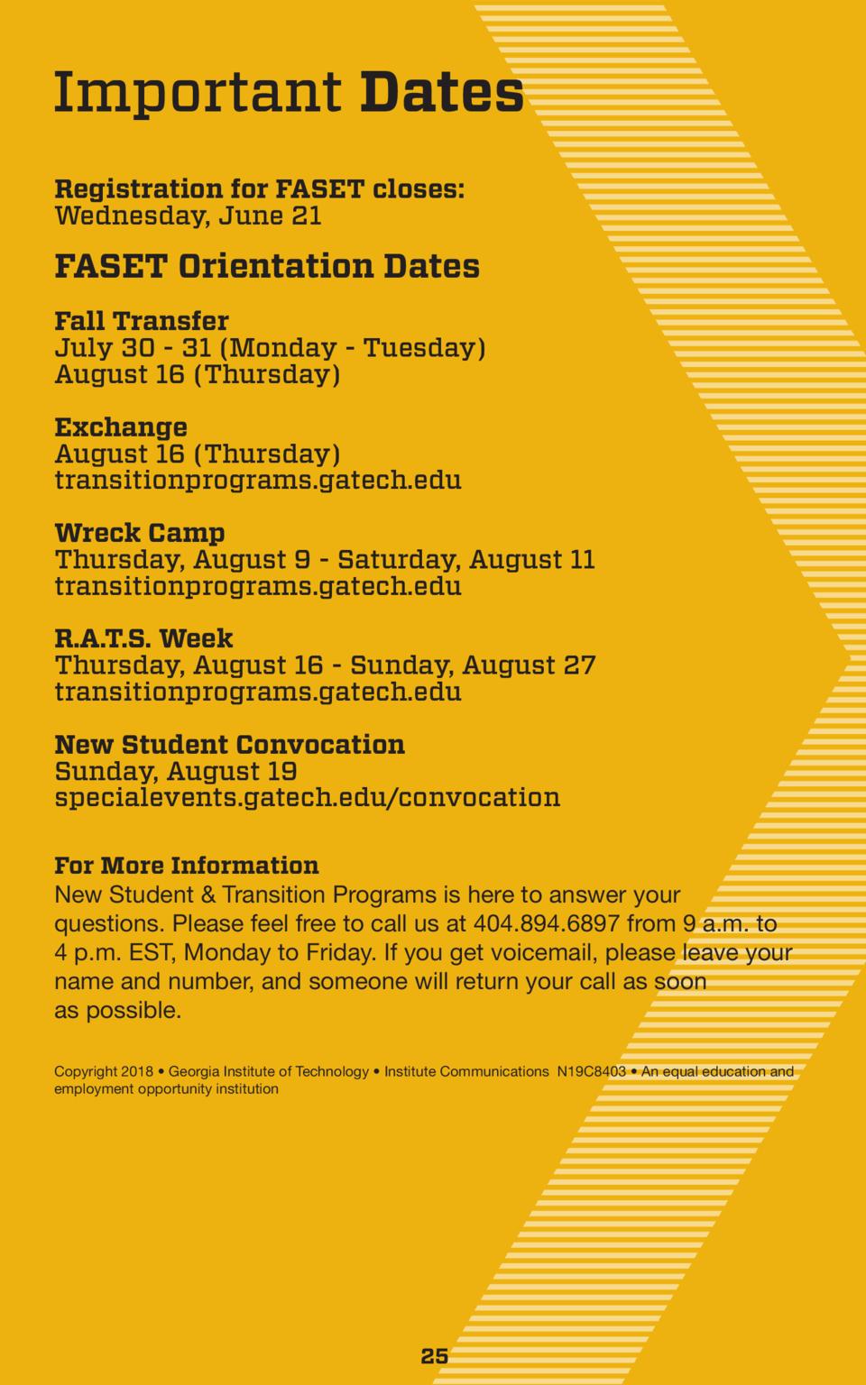 Fall Transfer Orientation | New Student & Transition Programs