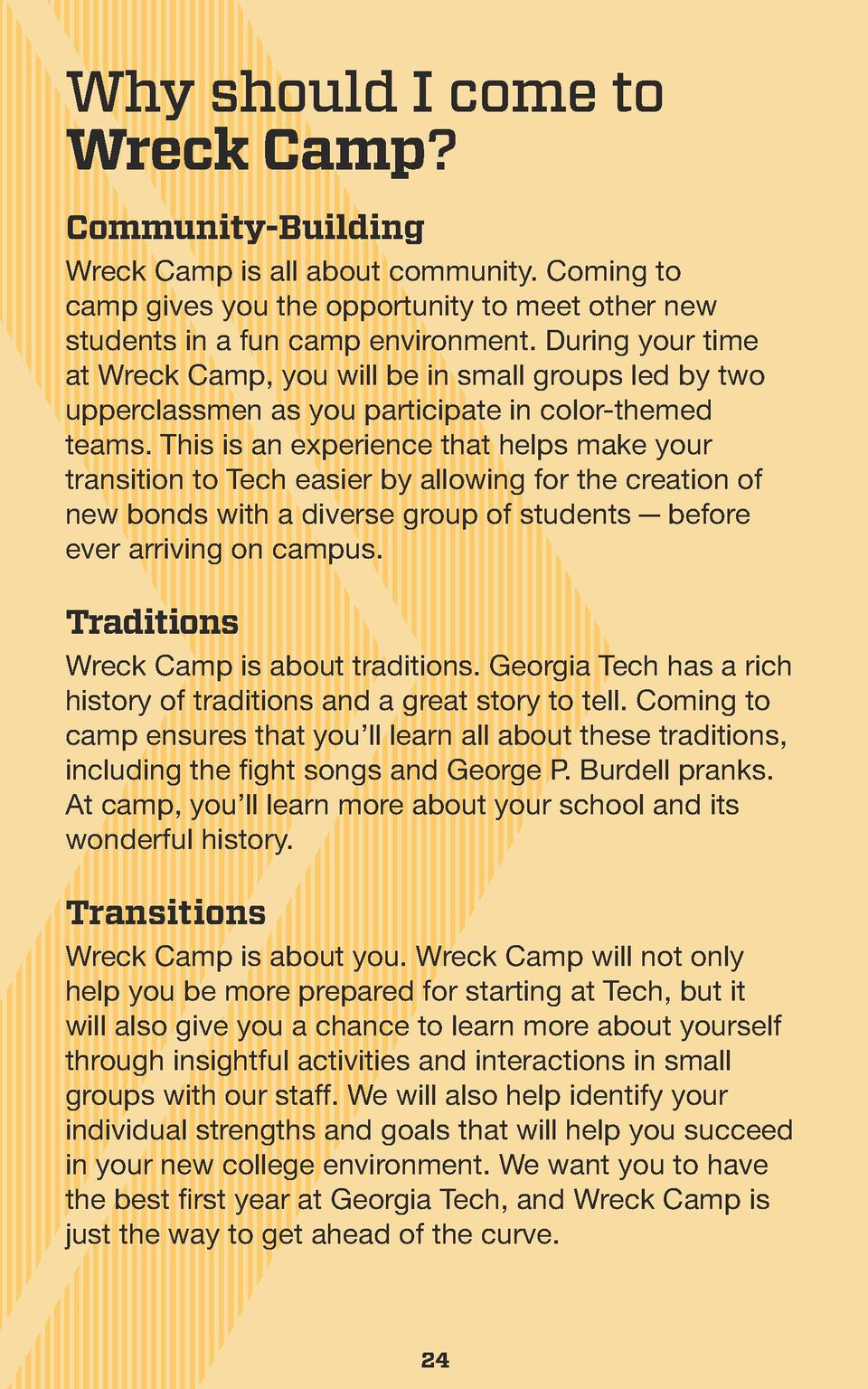 Why should I come to Wreck Camp  Community-Building Wreck Camp is all about community. Coming to camp gives you the opport...
