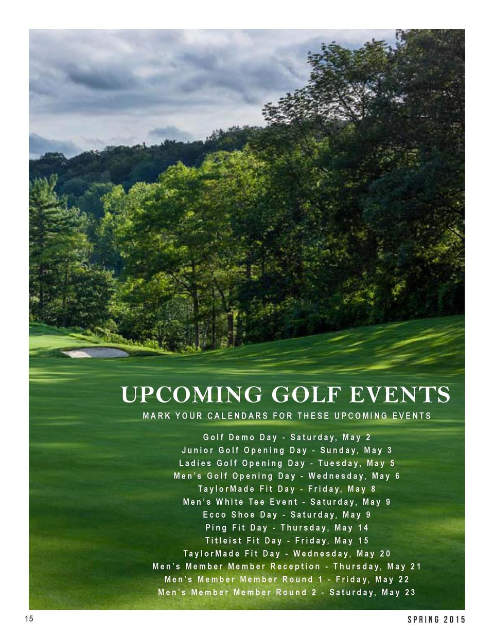 GOLF UPDATE  Tim McKeiver, Head Golf Professional - tmckeiver londonhuntclub.com As you read this our golf season is just ...