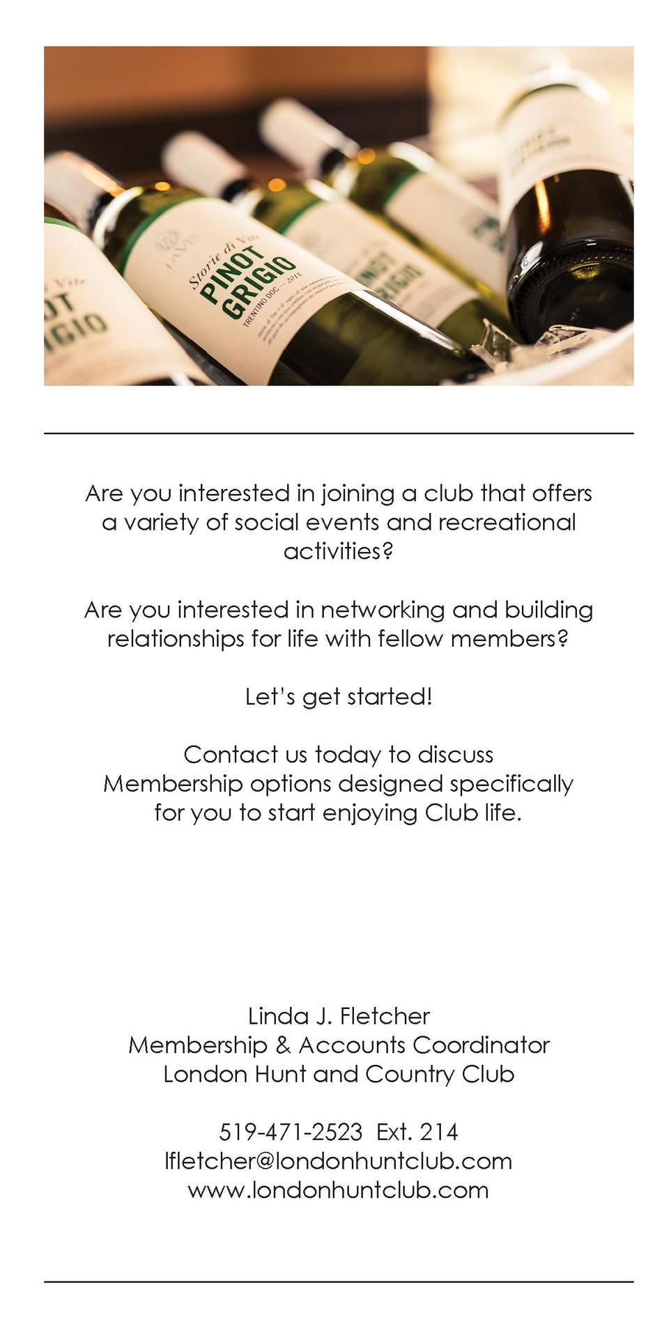 Are you interested in joining a club that offers a variety of social events and recreational activities  Are you intereste...