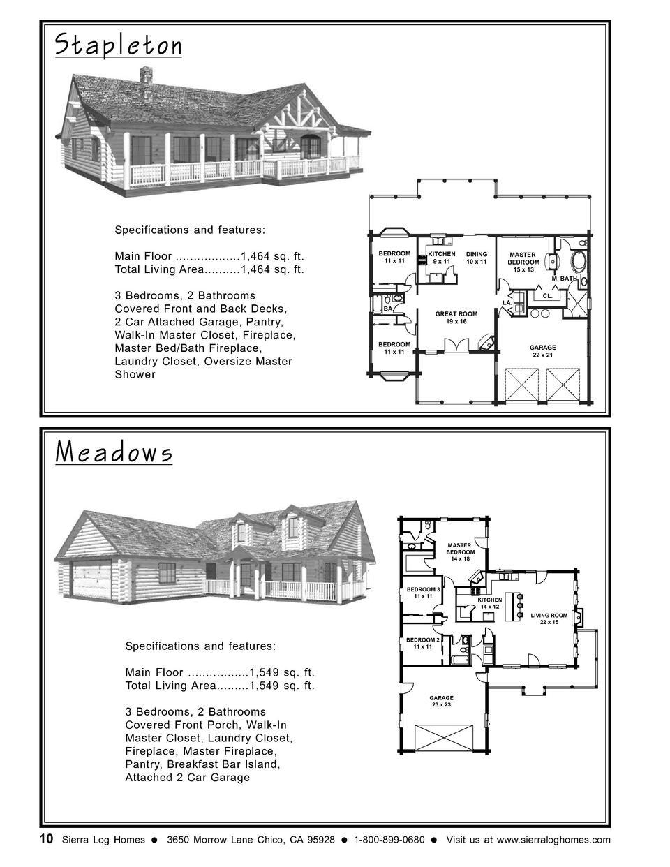 Sierra Floor Plans Book
