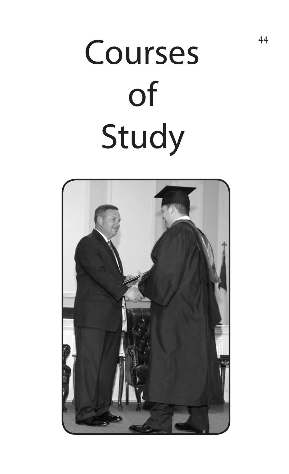 Courses of Study 44 2014 15 College Catalog