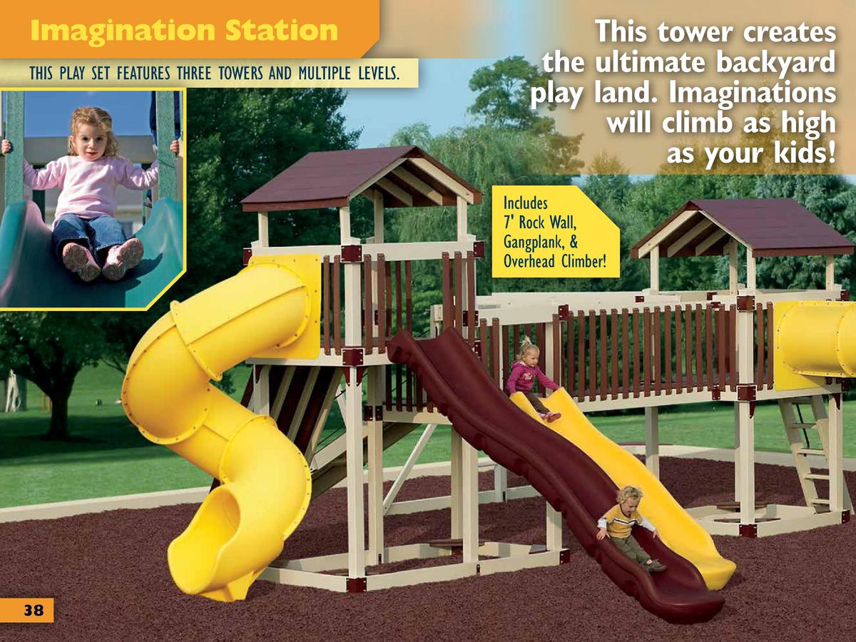 Imagination Station THIS PLAY SET FEATURES THREE TOWERS AND MULTIPLE  LEVELS. This Tower Creates The