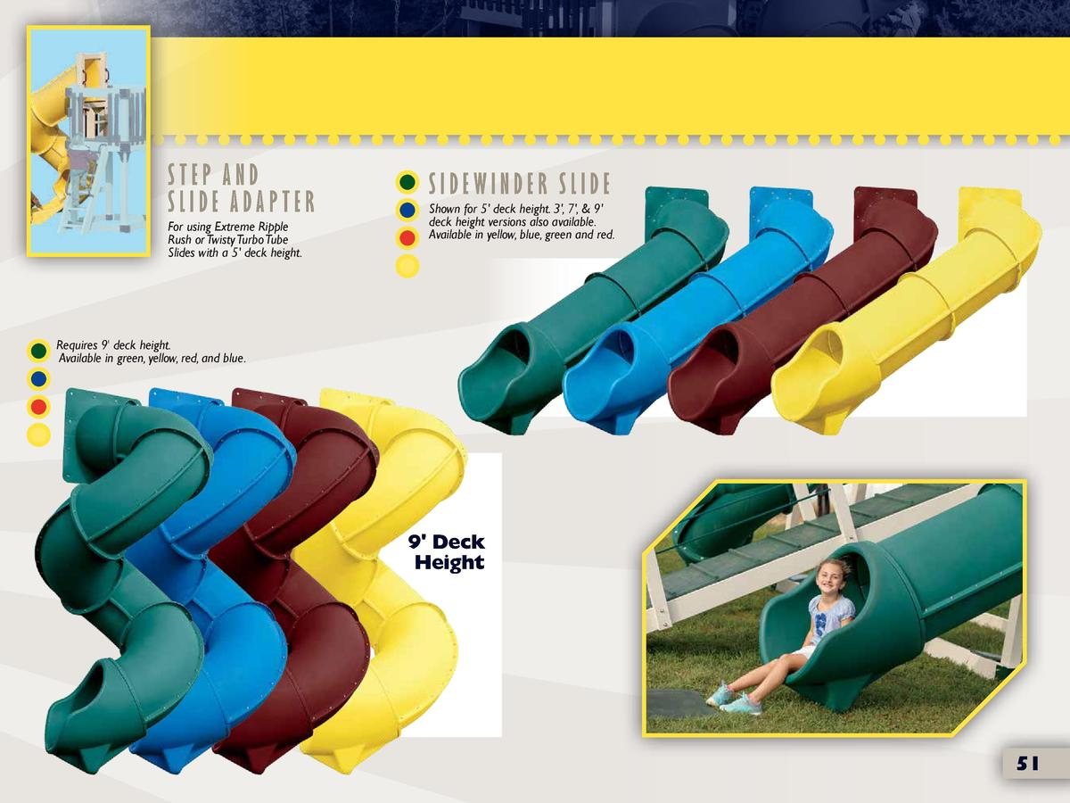 Step And Slide Adapter For Using Extreme Ripple Rush Or Twisty Turbo Slides With A