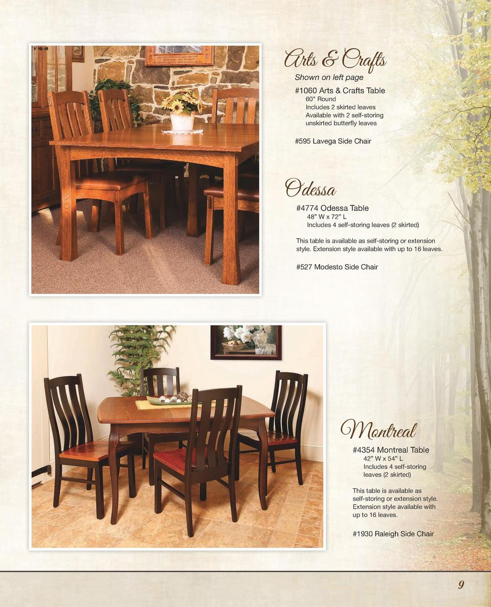 dining room furniture simplebooklet com arts crafts shown on left page 1060 arts crafts table 60 round includes 2 skirted leaves
