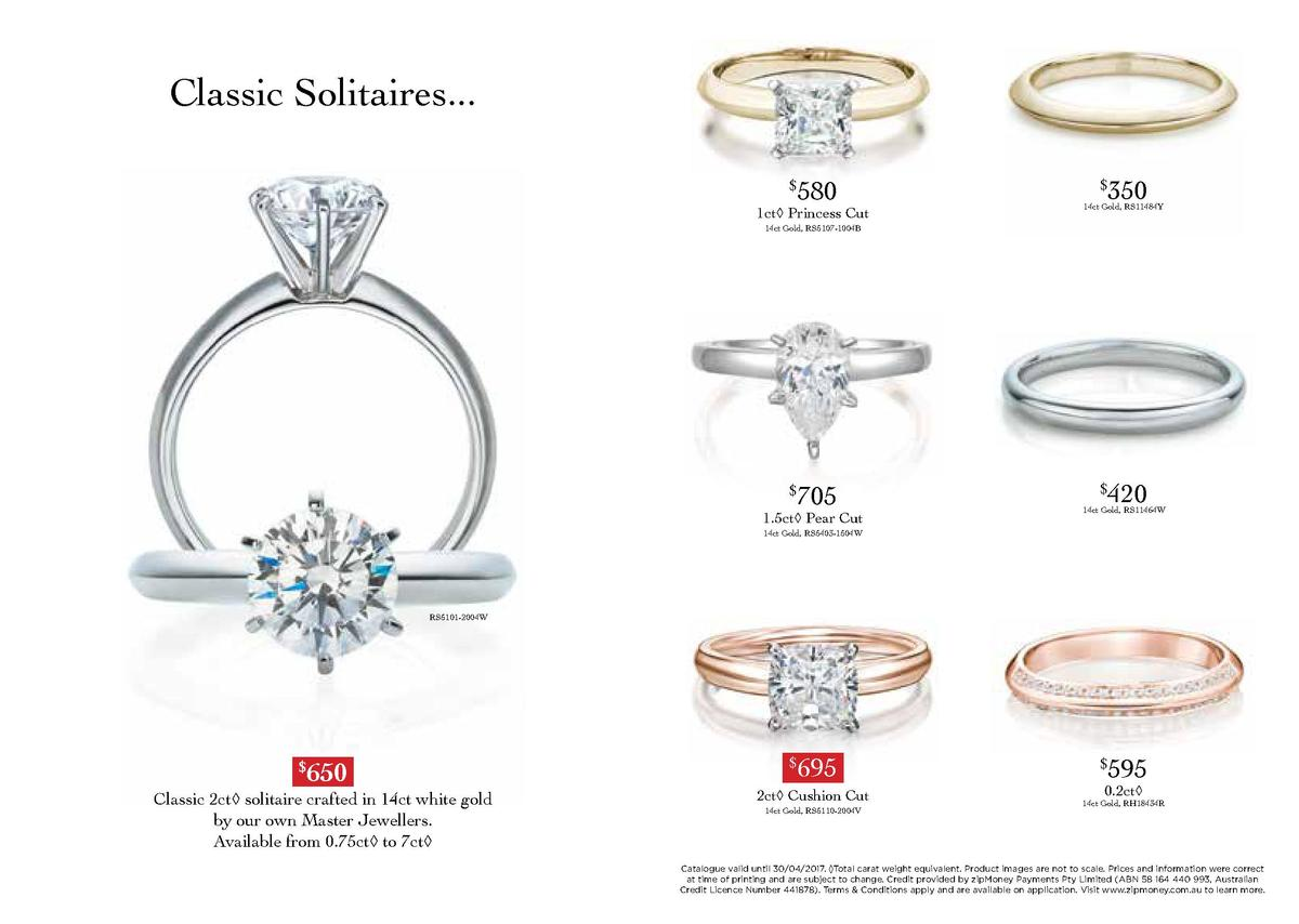 Classic Solitaires... 580     1ct    Princess Cut  350     14ct Gold, RS11484Y  14ct Gold, RS5107-1004B  705     1.5ct    ...