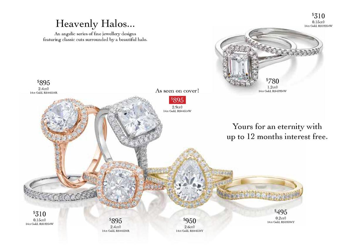310     Heavenly Halos...  0.15ct     14ct Gold, RS18254W  An angelic series of fine jewellery designs featuring classic c...