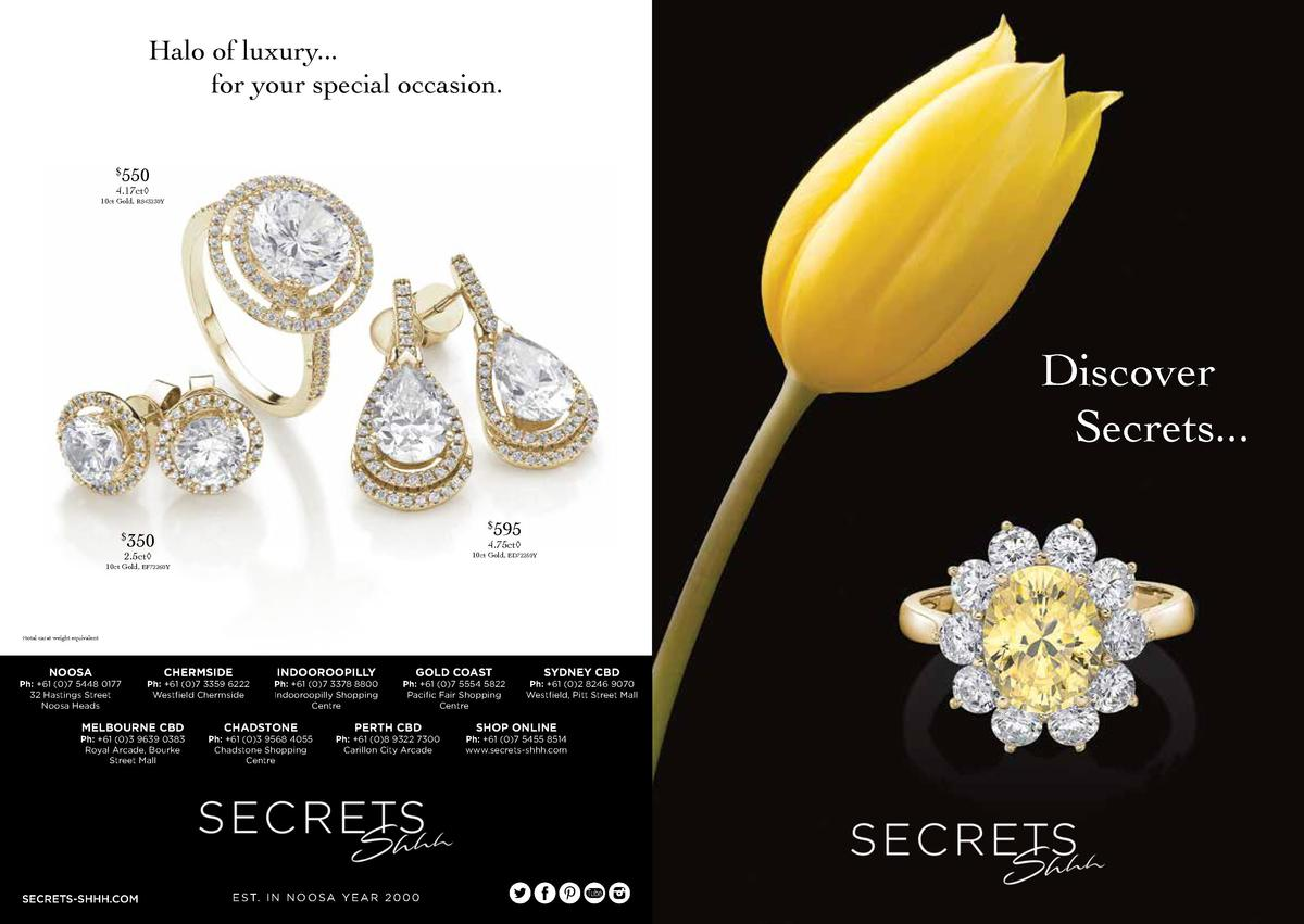 Halo of luxury... for your special occasion. 550     4.17ct     10ct Gold, RS43230Y  Discover Secrets...  12pt 6pt     595...