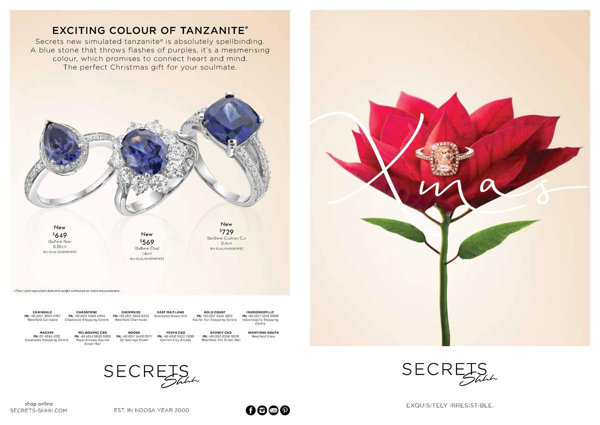 EXCITING COLOUR OF TANZANITE      Secrets new simulated tanzanite    is absolutely spellbinding. A blue stone that throws ...
