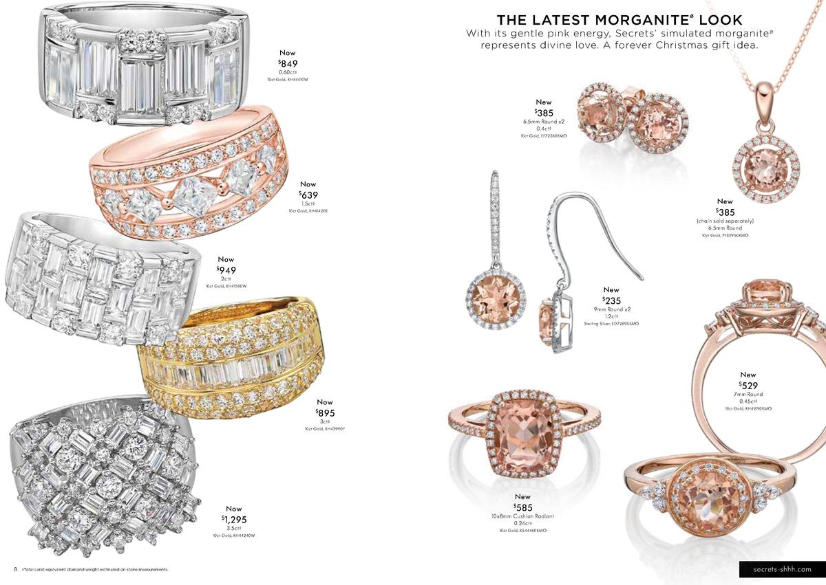 THE LATEST MORGANITE LOOK     With its gentle pink energy, Secrets    simulated morganite    represents divine love. A for...