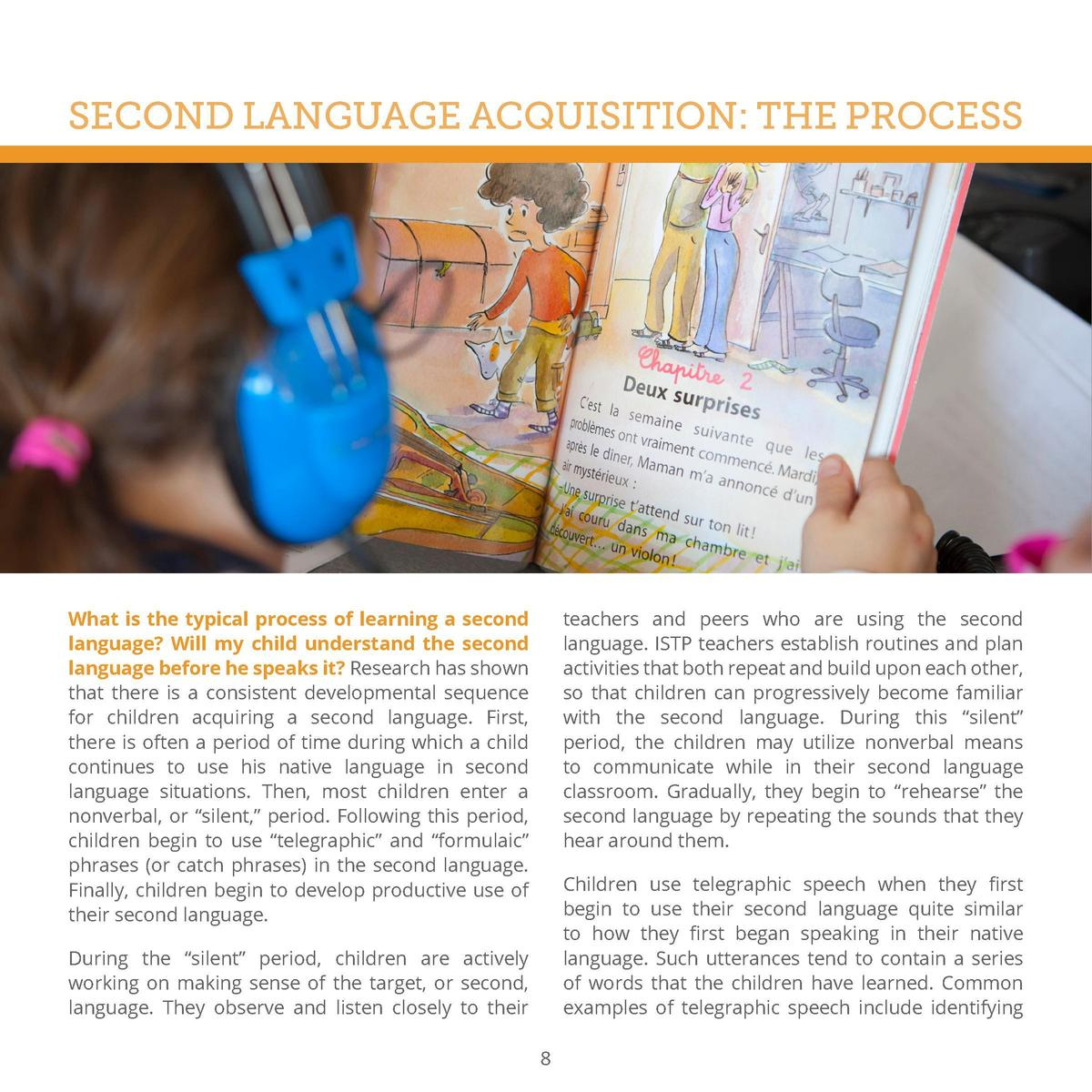 SECOND LANGUAGE ACQUISITION  THE PROCESS  What is the typical process of learning a second language  Will my child underst...