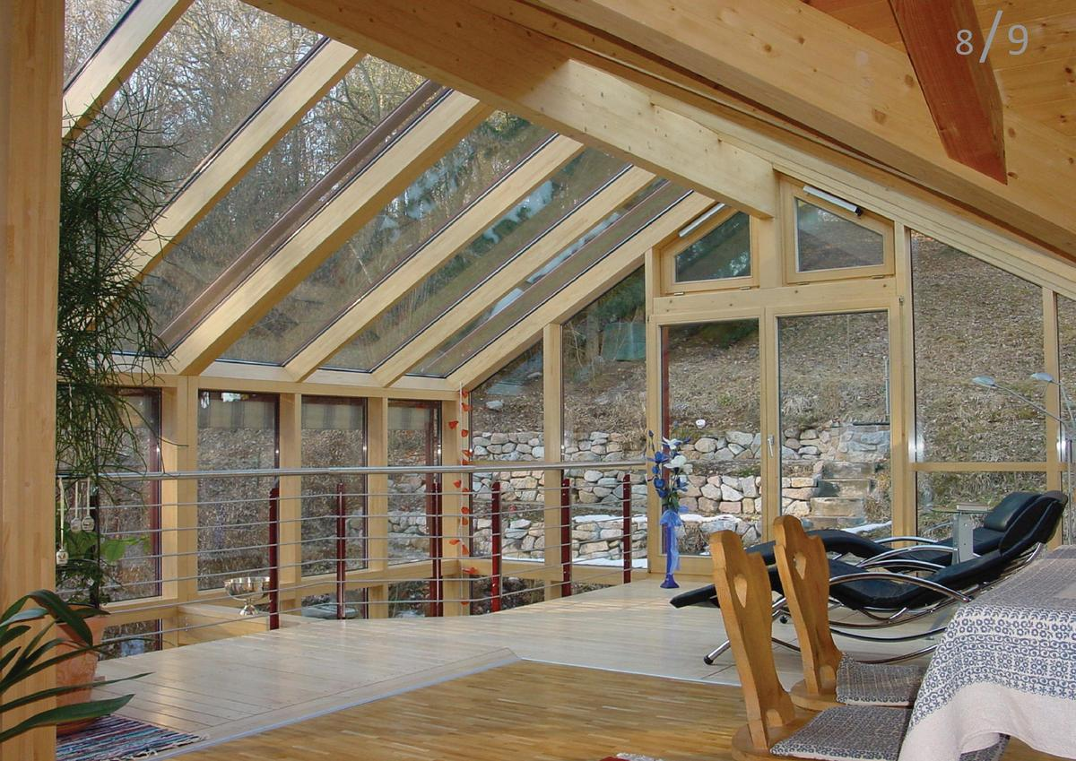 THE TIMBER CONSERVATORY Our conservatories achieve a comfortable living space that is close to nature. Only glass separate...