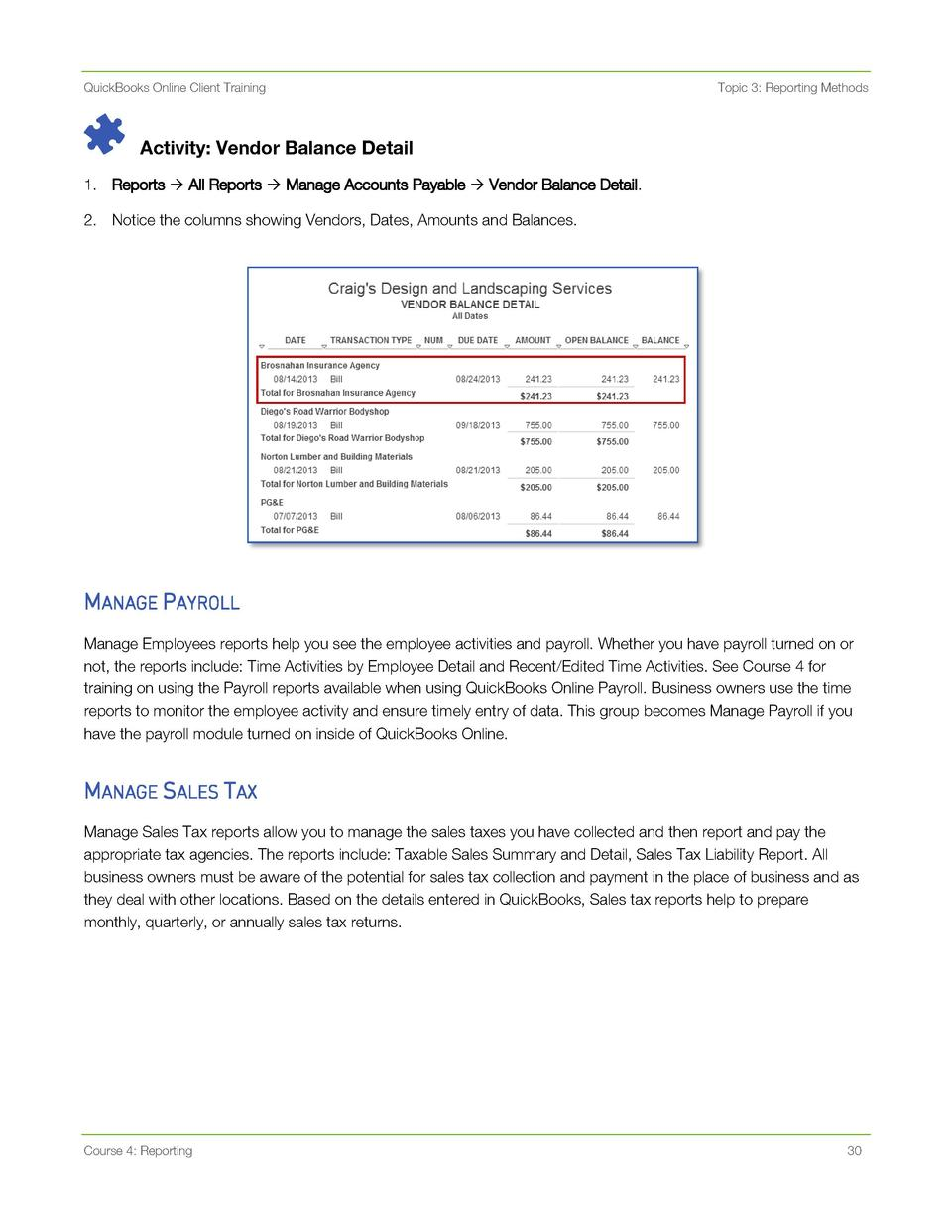 QB Training for Reports : simplebooklet