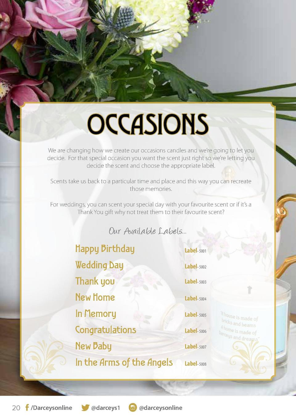 OCCASIONS We are changing how we create our occasions candles and we   re going to let you decide. For that special occasi...