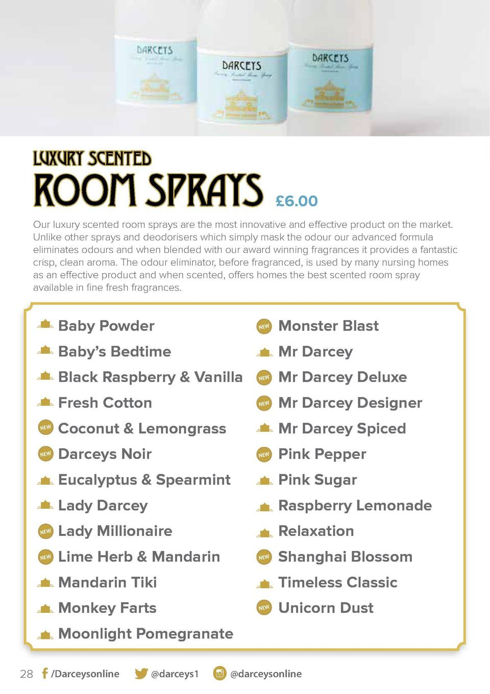 LUXURY SCENTED  ROOM SPRAYS    6.00  Our luxury scented room sprays are the most innovative and effective product on the m...