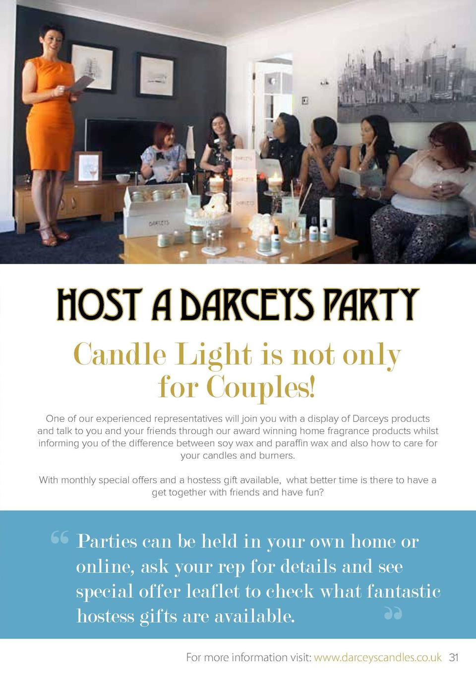 HOST A DARCEYS PARTY Candle Light is not only for Couples   ROLLERBALL PERFUMES   6.00 Going on a night out, heading to wo...