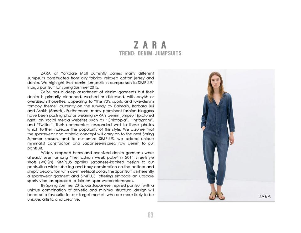 Z A R A  TREND  DENIM JUMPSUITS ZARA at Yorkdale Mall currently carries many different Jumpsuits constructed from airy fab...